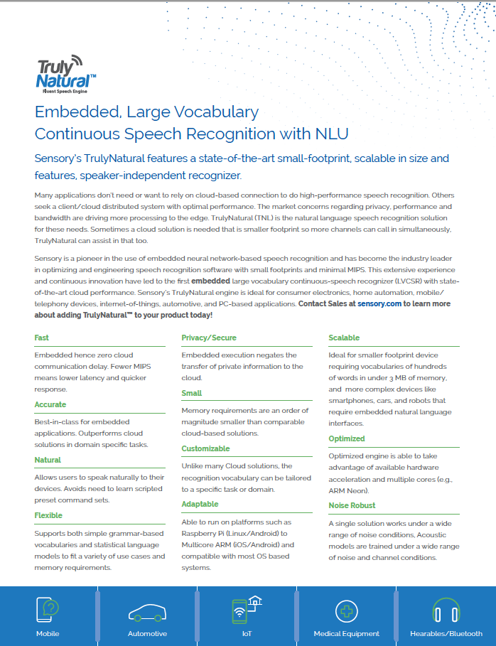 TNL Product brief